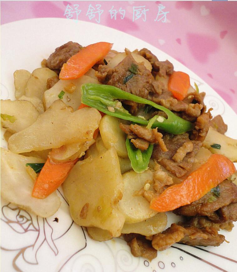 洋姜炒肉片
