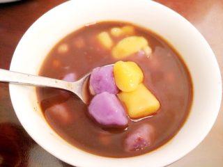 红豆沙花生芋圆