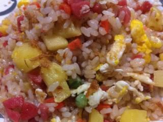 菠萝肉松炒饭