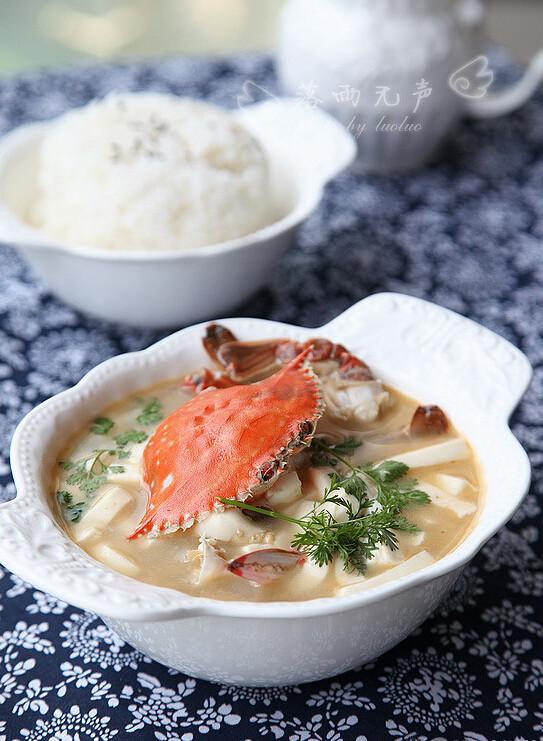 香蟹豆腐汤