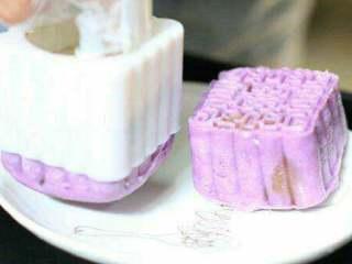 冰心美人--冰皮月饼,做好的紫薯月饼