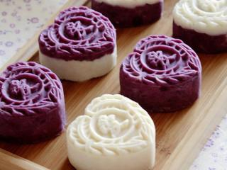 紫薯山药豆沙月饼