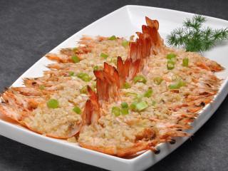 蒜茸开边虾