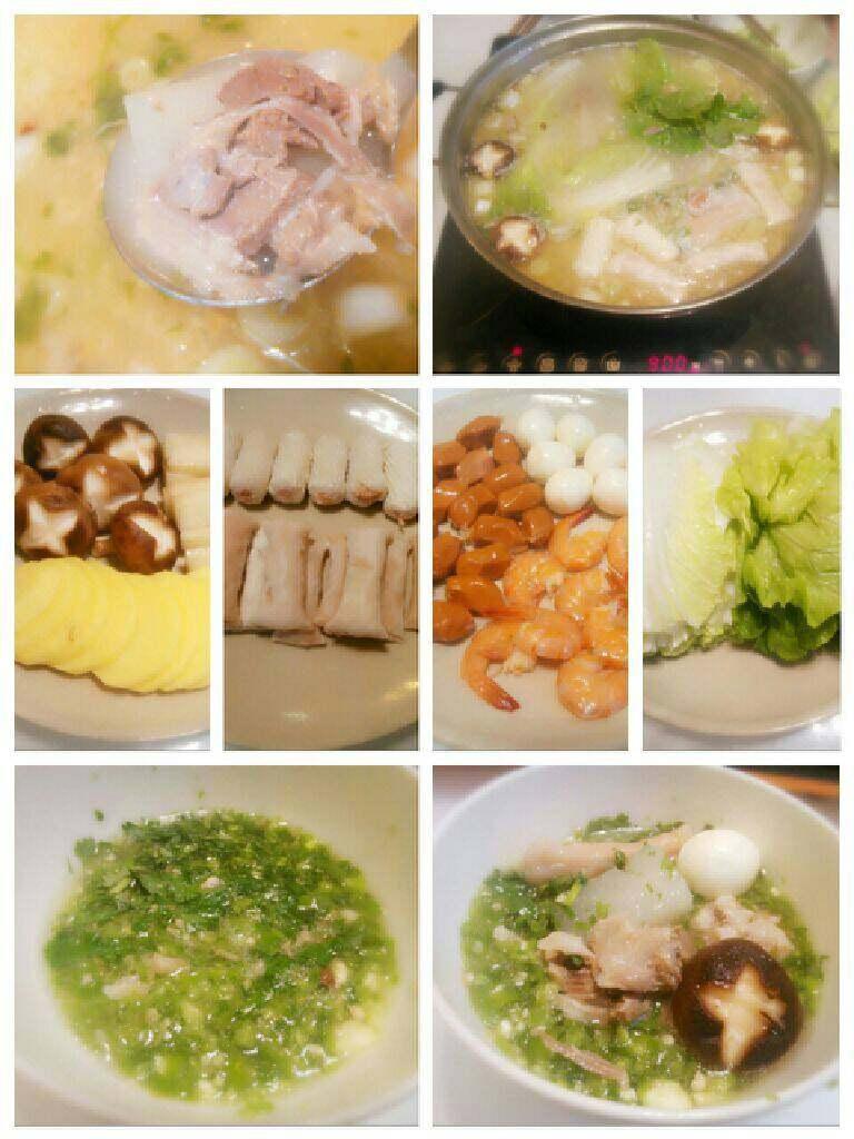 白萝卜羊肉汤锅,可提前准备点自己爱吃的荤素才品。等吃完羊肉和萝卜时把羊肉汤当底锅,再吃个羊肉汤清汤火锅吧^_^
