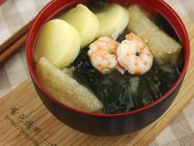 日式鲜虾味增汤