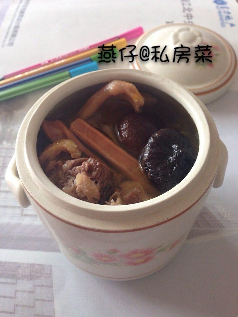 香菇鱿鱼干炖鸭肉
