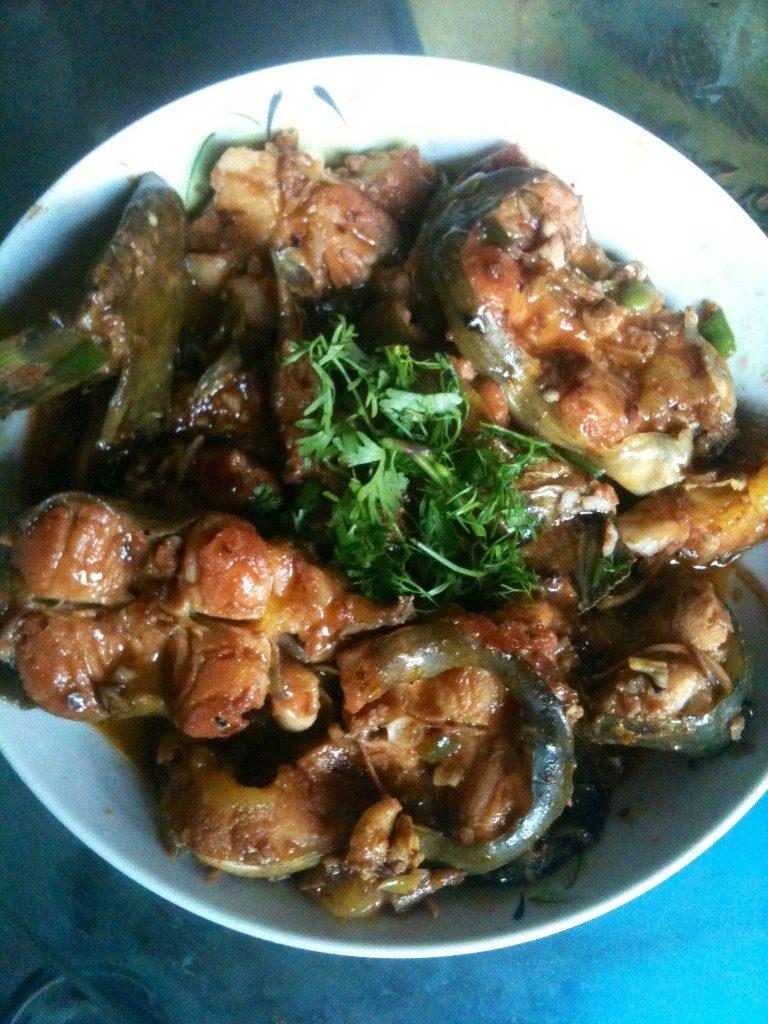 海鲜酱焖鲢鱼
