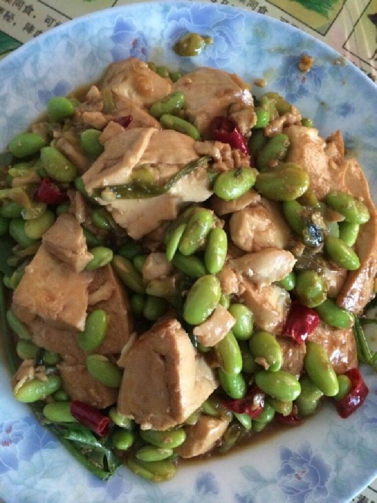 毛豆炒豆腐