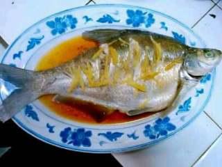 清蒸鳊鱼,鱼蒸好了。