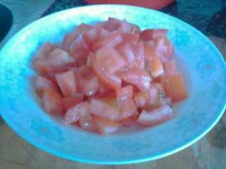 茄汁鹌鹑蛋,番茄切丁
