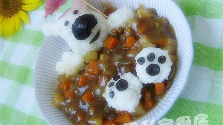 可爱饭团泡汤熊