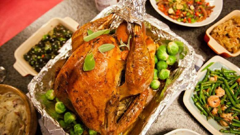 圣诞烤火鸡
