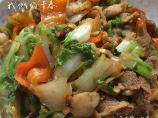 羊肉炒小白菜