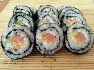 韩国紫菜包饭,切成!!!开吃!