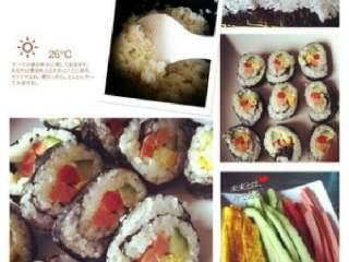 教你做最简单的寿司,成品,口水留一地了吧。加上酱油和芥末,还去店里吃干吗!
