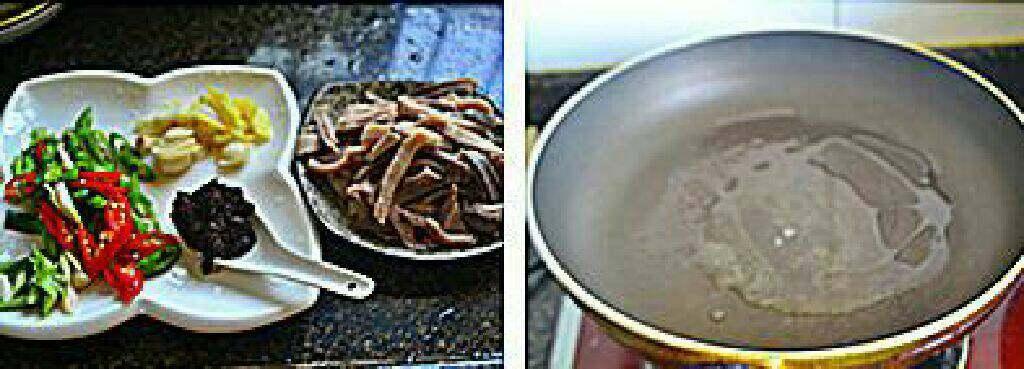 香辣猪肚条,猪肚提前在压力锅压熟。