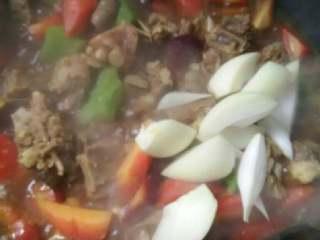 咖喱萝卜炖排骨,萝卜八分熟加洋葱炖煮