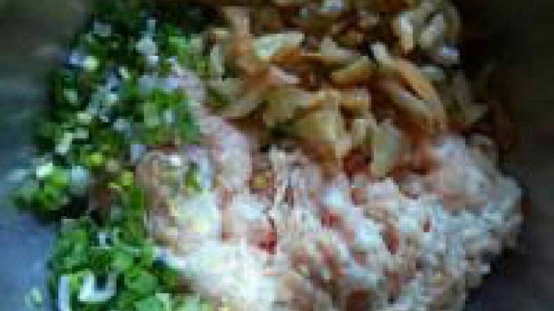 榨菜肉饼---乌江榨菜的做法,加入葱姜,榨菜