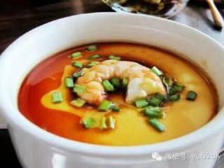 海虾蒸蛋羹