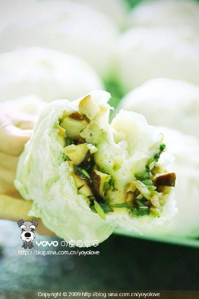 青菜香菇包