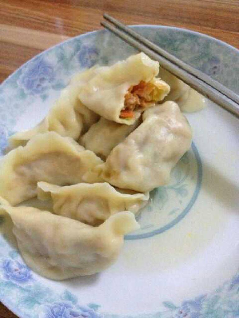 玉米胡萝卜肉末馅水饺