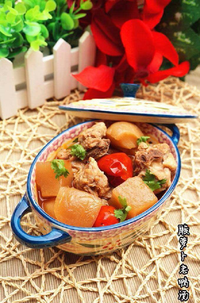 酸萝卜老鸭汤,立秋来临,进补的同时也要预防秋燥,酸萝卜老鸭汤即能饱口腹之欲,又不会上火!