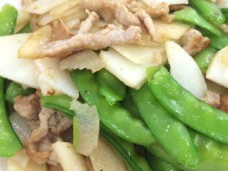 山药荷兰豆炒肉片