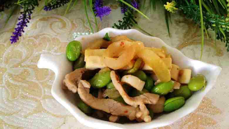 豆干榨菜炒毛豆