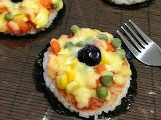 迷你米饭披萨