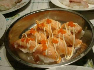火焰三文鱼寿司