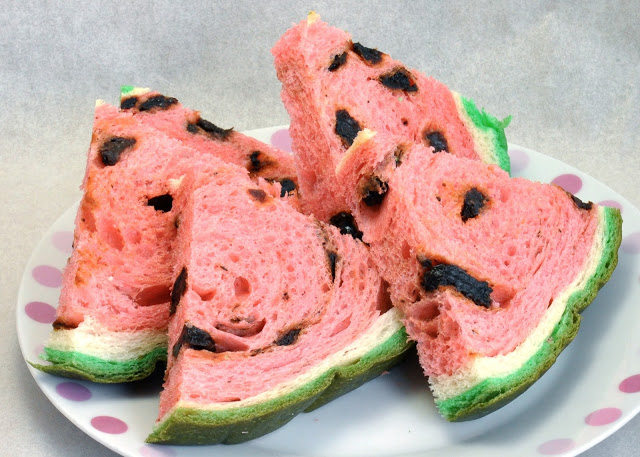 西瓜面包 西瓜土司