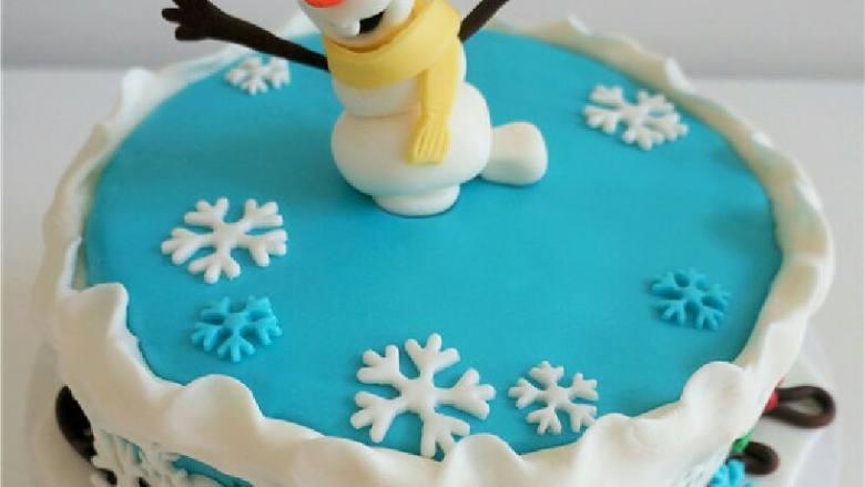 可爱到不忍下口的冰雪奇缘3D蛋糕|翻糖蛋糕教学