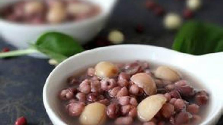 红豆薏米龙眼养颜汤