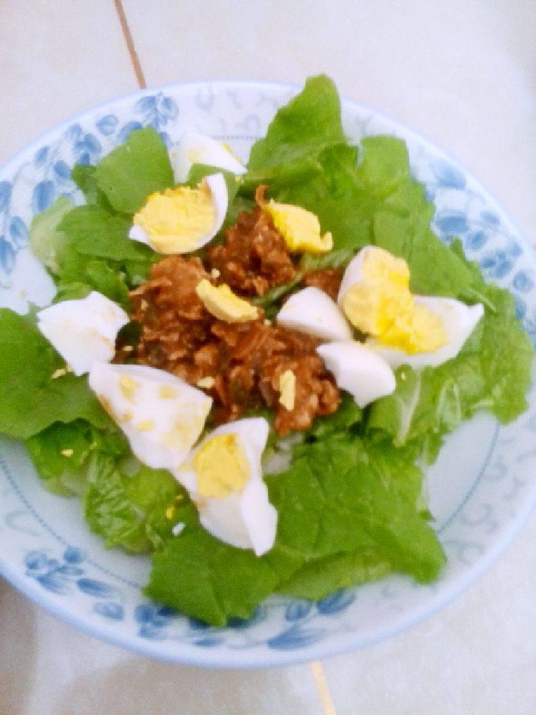 白菜叶鸡蛋酱