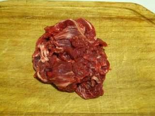 葱爆牛肉,牛肉切片