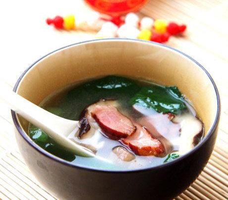 青菜腊肉汤