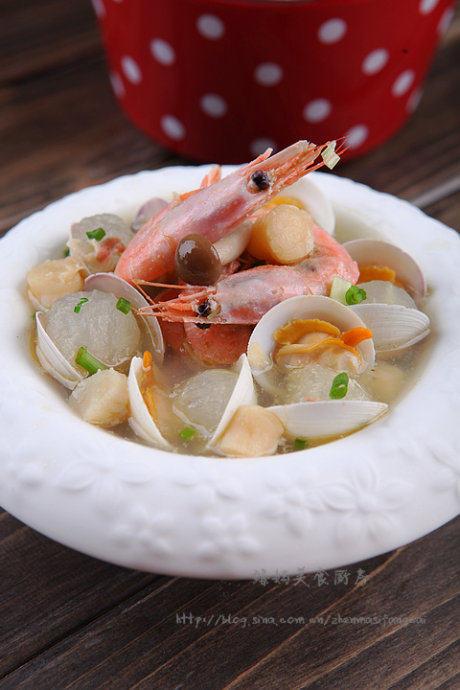 北极虾蛤蜊冬瓜汤