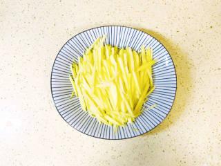 西红柿炒土豆丝,控干水分