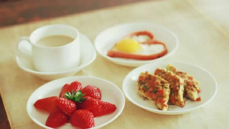 均衡营养爱心早餐组合