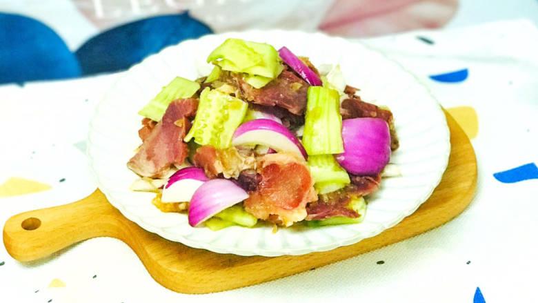 洋葱拌牛肉,美味的洋葱拌牛肉就做好了