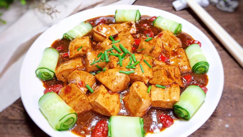 酸辣豆腐,一道美味的酸辣豆腐就做好了