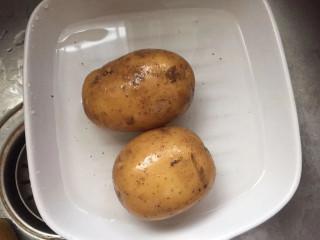 土豆泥蛋卷,土豆两个